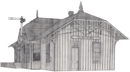 Sketch of the SAAP Depot in Elmendorf by Gary Rodriguez