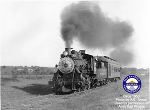 SAAP #60 circa 1950 with train 218